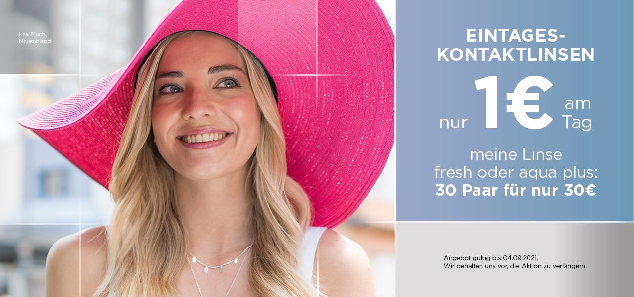 Kontaktlinsen für nur 1€ pro Tag bei Neusehland